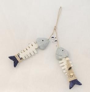 2 Lische Di Pesce In Legno