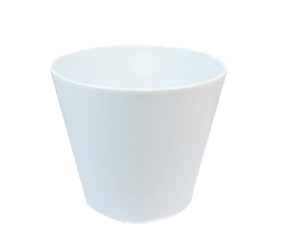 Porta Vaso Ceramica Bianca H.2...