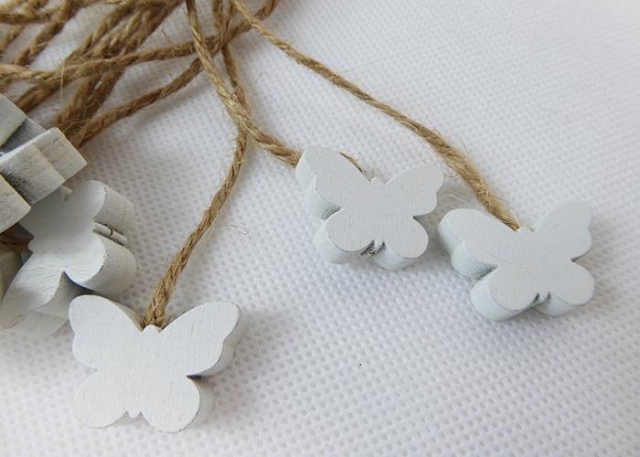 Farfalla Legno Con Corda Pz 16