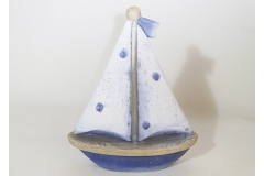 Barca Legno Vela Pois