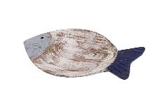 Piatto Svuotatasche Pesce Legno 23 Cm Linea Mare