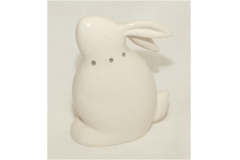 Coniglio in porcellana seduto con strass cm 9x12