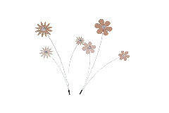Pz 1 Pick Fiori Legno Rosa X3 Con Strass Decorazione