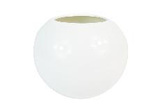 Vaso Palla Ceramica Bianca D. 17 Cm Composizioni Arredo