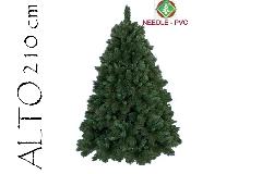 Albero Di Natale Pino Boston Cm 210 Tips 1590 Base Cm 145