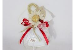 Bomboniera Sacchetto Fiore E Coccinella