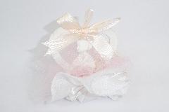Bomboniera Applicazione Cuore Ballerina Tulle Rosa Battesimo Cresima