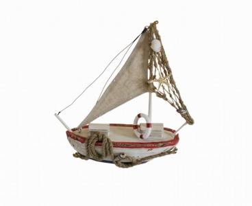 Barca Da Pesca Corda Decorazione Mare 25 Cm