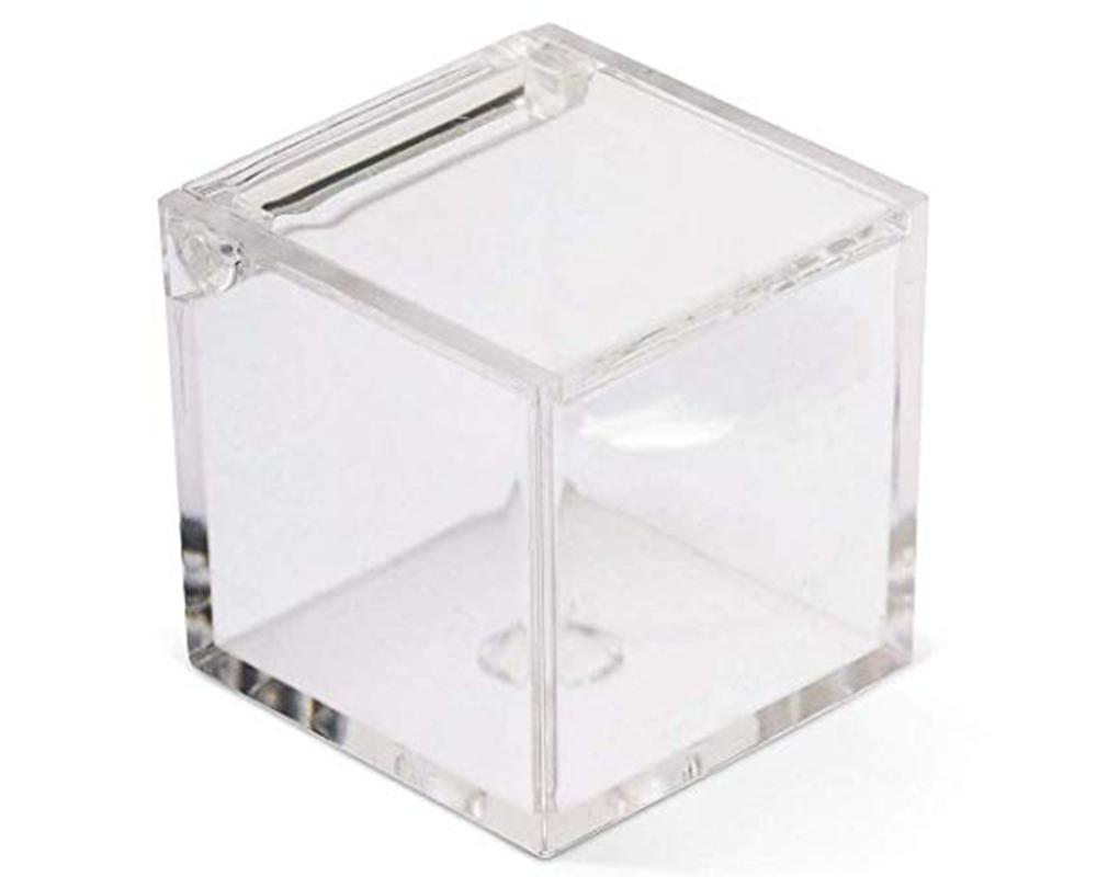 Scatola Quadrata Plexiglass 10x10x10 Cm Trasparente Bomboniere Portaconfetti