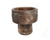 Vaso Fungo Cemento D. 19 H. 19 Composizione Floreale