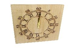 Orologio Legno Con Led 34x3x34 Cm Decorazione Arredo Regalo