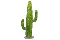 Cactus Legno Lungo 11xH.45 Cm Decorazione Arredo Primavera Estate Esotica