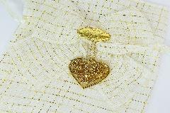 Sacchetto Oro Cuore Metallo 50 Matrimonio