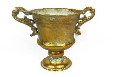 Calice Oro Metallo D.13 H.18,5 Anticato Decorazione Arredo Baroque Wedding