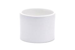 Cilindro Ceramica Bianca D.22xH20 Cm Contenitore Vaso Decorazione Arredo