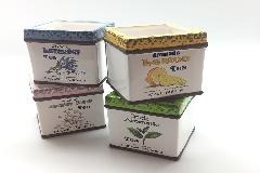 Vaso Quadro Tea 11x11x10,5 Cm Colorato Cotto Decorazione Arredo