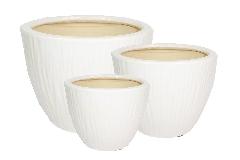 Cachepot Vasi Ceramica Grace Serie Da 3 Decorazione Arredo Piante Fiori