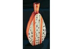 Vaso Ovale In Cotto Etnico 65 Cm