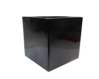 Cubo Ceramica Nero 26x26x26 Composizioni Floreali