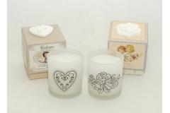 Candela Inscatolata Con Fragranza Cotton Fresh/rosa 7x8 Cm