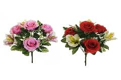 Busch Rose E Astromeria 7 Fiori Cm 33