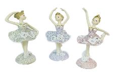 Pz 1 Ballerina Glitter H.13 Cm Colorata Diverse Posizioni Arredo Bomboniera