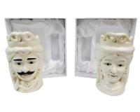 Mori Porcellana Beige 5,3x5,3x9,5 Bomboniere Fai da te Applicazione