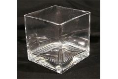 Vasetto Vetro Trasp Contenitore X Confetti Cubo 8x8x8 Cm