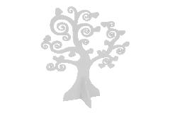 Albero Della Vita Legno Cm 26 Bianco