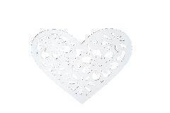Cuore Legno Intagliato D.40 Cm Bianco Decorazione Arredo Matrimonio