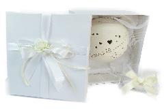 Bomboniera In Ceramica Con Luce Led Love Is Life Sferico H.12