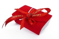Bomboniera Libro Rosso In Velluto Con Coccinella E Nastrino Scritta Laurea