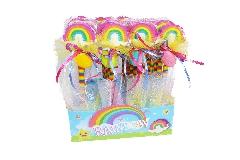 Bomboniere Pz 24 Matite Gomma Arcobaleno Decorate Con Scatola Rainbow Cresima