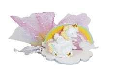 Bomboniera Arcobaleno E Unicorno Tulle Multicolor